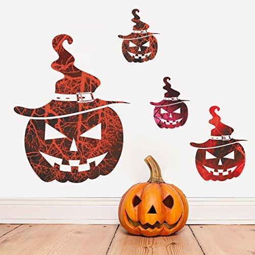 Wandaufkleber Hallowmas Heißer Verkauf Halloween Neue Horror Kürbis Kopf Bar Spukhaus Dekorative Wandaufkleber (Für Disney Halloween-dekoration Verkauf)