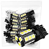 Yorkim 3157 18-SMD 5050 Wedge LED Cool White Bulbs, 12V Brake Park Light