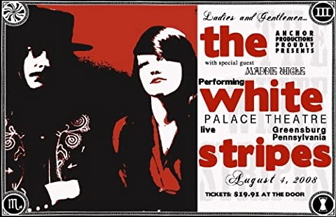 The White Stripes reproduction Concert photo affiche 40x30cms