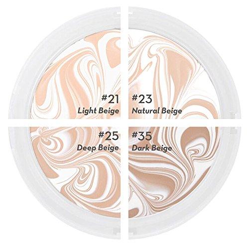 Fondotinta Premium Compatto Age 20's, + 1 Refill Extra - Confezione Bianco Latte SPF50+ (Realizzato in Corea) - Colore n. 25 - Bianco/ Beige Profondo Latte