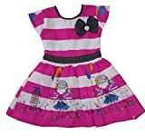 Girls Dress Striped printed Cotton Frock...