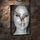SEASONS ORNELLA MUTI - Canvas Clock (A5 - Signed by the Artist) #js003