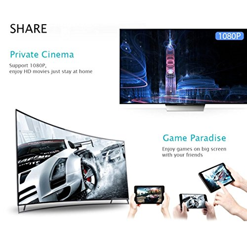 HD AV Dual Ausgang Q1 Dual Core Wifi Display Receiver HDMI Android TV Stick