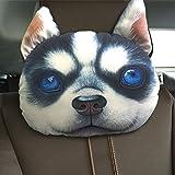 huplue 3D Hund/Katze Auto Kopfkissen Animal Reise Hals Kopfstütze Ornaments Auto-Dekoration Home Emoji-Kissen mit Bambus anthrazit #10