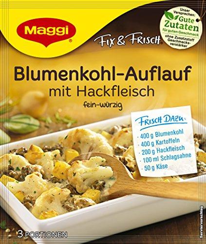 Maggi fix & frisch Blumenkohl-Auflauf mit Hackfleisch, 40g Beutel, ergibt 3 Portionen , 19er Pack (19 x 40 g)
