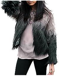 Reaso Femmes Filles Veste Jacket Hipster Hiver Gilet Faux Fur Outwear Pull Pullover Mode Cardigan Manche longue Blouson Vêtements d'extérieur Streetwear