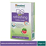 Himalaya Refreshing Baby Soap, 125 GM (Pack of 5)
