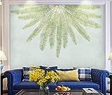 YUANLINGWEI Papel Tapiz Murales De Seda Personalizados Patrón De Hoja De Palma De Una Planta Arte Pintura Decoración De La Sala De Estar Mural Papel Tapiz,170Cm (H) X 250Cm (W)