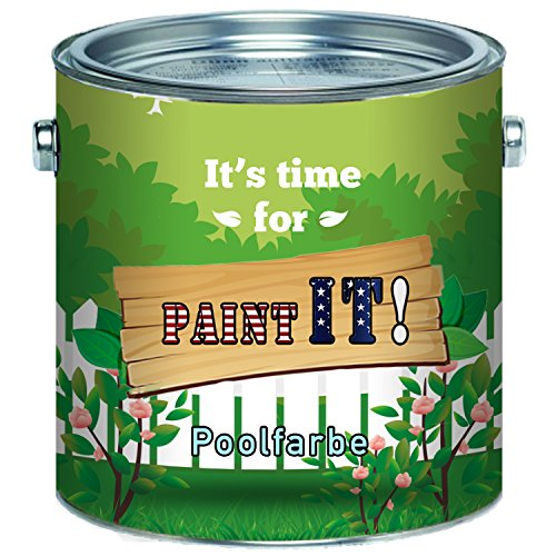 Paint IT! langfristige 2 Komponenten Poolfarbe für GFK, Kunststoff und Polyester Schwimmbeckenfarbe inkl. Härter im SET in Blau Weiß Grün und ALLE RAL (10 kg, Anderer RAL-Farbton (Bitte RAL Wert senden))