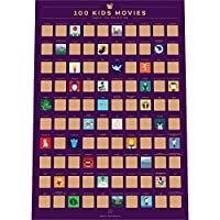 Enno Vatti 100 Kids Movies Scratch Off Poster - Top Family Films of All Time List (42 x 59.4 cm)