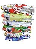 Set da 12 pannolini di stoffa unisex Three Little Imps con disegni (dotati di 2 inserti ciascuno)