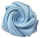 Sinland microfaser handtuch beste Putztücher Sehr saugstark, Keine Schlieren, keine Fussel, Kratzfrei 3 Stück 40cmx60cm hell blau