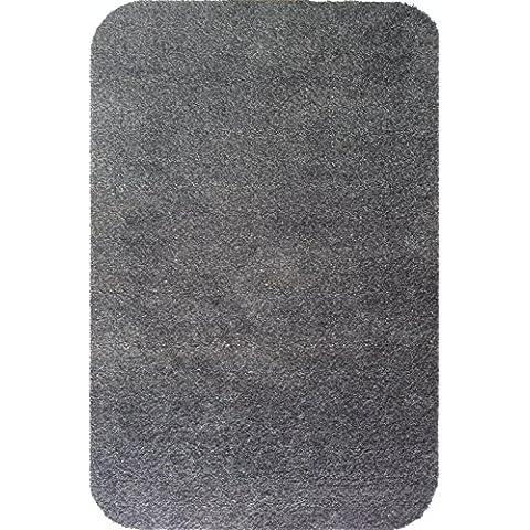 Economía gama absorbente lavable a tamaño grande Felpudo–Felpudo antisuciedad (65cm x 85cm, gris, 65cm x 85cm