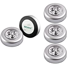 SOAIY® 5pcs/Set LED Battery-powered Wireless Night Light Stick Tap Touch Lamp Light