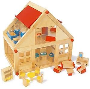 Small Foot Company 7253 - Pequeña casa de madera, 2 plantas , Modelos/colores Surtidos, 1 Unidad