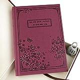 Gearmax® Vintage Design Taccuino con Scatola e Serratura a Combinazione, Vintage design Pagine Bianche ,Diario Quaderno degli Appunti Notebook