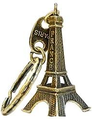 Oubang Llavero modelo de la torre Eiffel Llavero retro de París Llavero dividido del llavero del metal