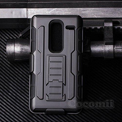 Cocomii Robot Armor LG Class/Zero Hülle [Strapazierfähig] Erstklassig Gürtelclip Ständer Stoßfest Gehäuse [Militärisch Verteidiger] Ganzkörper Case Schutzhülle for LG Class (R.Black)