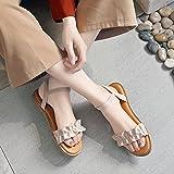 NING-NMC Las zapatillas de playa / Mujeres / verano / Nuevo / Apartamento / Playa / vacaciones / Roma zapatos / sandalias,Thirty-Five,Albaricoque