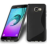 Coque Samsung Galaxy A5 2016 (6) en NOIR DE JAIS de Cadorabo (Design -S-) Housse en Gel TPU Silicone Souple Ultra Mince avec Anti Choc – Coque de Protection Etui Case Cover Ultra Slim Fine Bumper