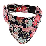 KESOTO Abnehmbar Hundehalsband mit Dreieckstuch Dreieck Halstuch Bandana für Hunde und Katzen - Typ 1