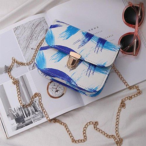 telefono spalla multicolore Sacchetto Donna mobile del il di messaggero per Longra Blu wtpzqH