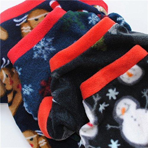 Handfly Weihnachten Hundepullover Hundemantel Hundejacke Hunde Weste Winter Herbst warme Hundebekleidung für Kleine und Mittlere Hunde Teddy Chihuahua Shiba Dachshund Bulldog XS S M L