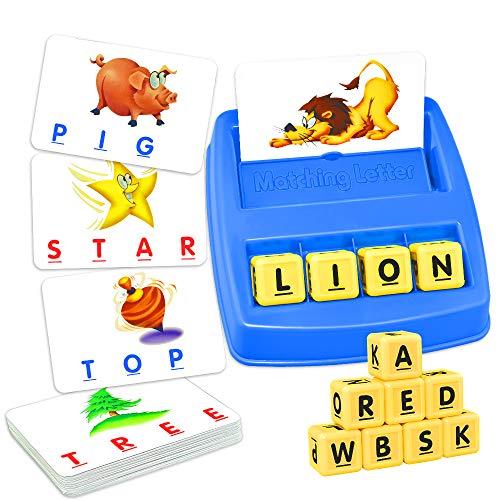 KITY Lernspielzeug 2-5 Jahre Mädchen Jungen, Geschenke für Mädchen Jungen 2-5 Jahre Passend Brief Spiel Rätsel für Kinder ab 2-5 Wortspiele für Kinder ab 2-6 Spielzeug für Mädchen Jungen 2-6 Jahre -