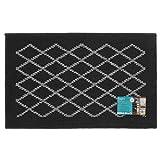 JVL Bergamo - Felpudo de Entrada (Polipropileno/látex, 80 x 50 x 1,2 cm), Color Negro y Gris