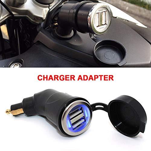 Maliyaw Neue Dual USB Port Ladegerät Adapter Kurzkopf 3.3A schnittstelle Auto Ladegerät für BMW R1200GS R1200RT F800 Motorrad (Auto Usb-adapter-3a)
