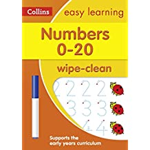 ‏‪Numbers 0-20 Age 3-5 Wipe Clean Activity Book: Prepare for Preschool with Easy Home Learning‬‏
