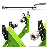 Relaxdays Rollentrainer Inklusive Schaltung 6 Gänge für 26-28 zoll bis 120 kg Belastbar Indoor Fahrradfahren Stahl, Grün, 10018322_53 - 4