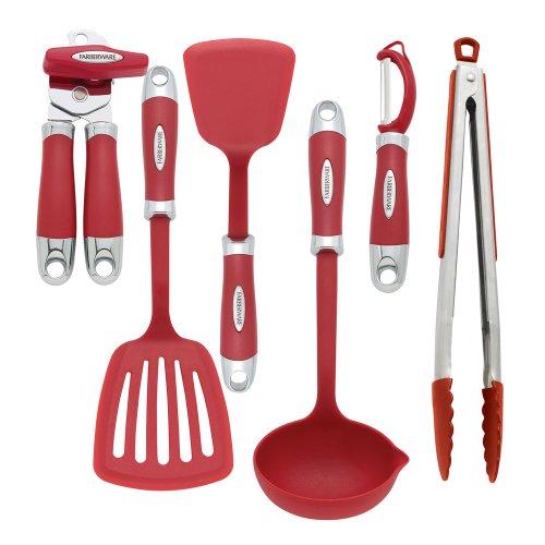 farberware-6-pieces-outils-et-gadgets-en-rouge