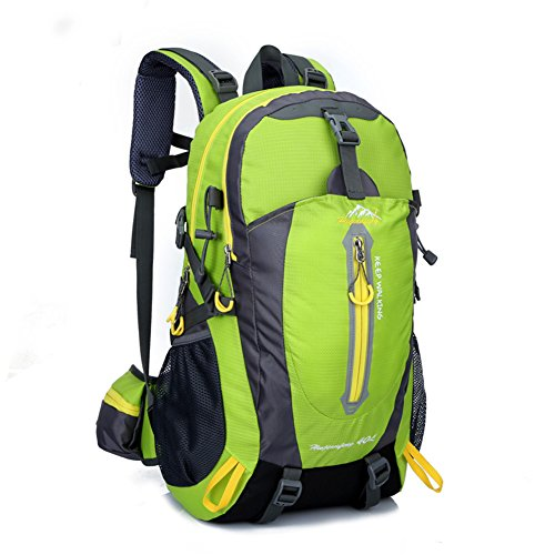 OHREX 40 Liter Outdoor Wasserdicht Bewegung Wandern Camping Reise Bergsteigen Klettern Tornister Der Rucksack Taschen Trekkingrucksäcke Schulrucksäcke Wanderrucksäcke Gr¨¹n