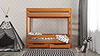 Wanda kids bunk bed with drawers side enter - solid wood