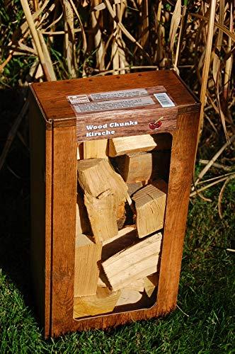 Kirsche Wood Chunks / Cherry Chunks Räucherklötze / Smokerholz direkt vom Holzhof, 100% Natürlich für optimales Raucharoma (Bbq Rauch-wood Chunks)