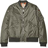 Schott NYC Jktac, Blouson Homme, Gris (Smoke), Large (Taille Fabricant: L)