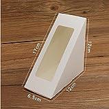 sandwich scatola porta sandwich vassoio sacchetto trasparente triangolo aprire la finestra comodo torta di cottura Triangle(100)