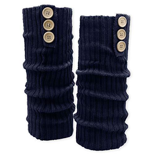 Soul-Cats® Bein Stulpen mit Knöpfen: blau