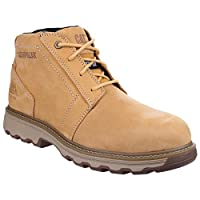 Caterpillar Cat Parker Brown/Tan SBP Work Safety Boots Steel Toe & Midsole