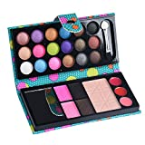 SMILEQ 26 Farben Lidschatten Make-up Palette Kosmetik Lidschatten Blush Lipgloss Pulver (One Size, Blau)