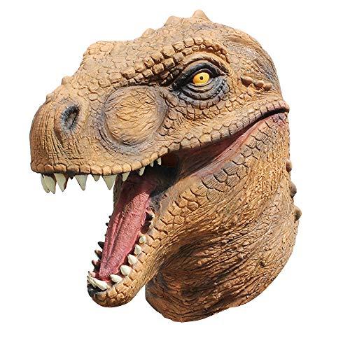 Dinosaurier Maske Cartoon Tyrannosaurus Rex Kopfbedeckung Latex Halloween Maskerade Festival Emulsion Realistisch Kostüm Spielzeug