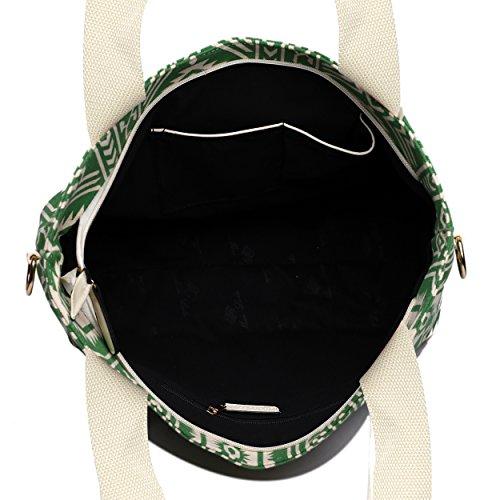 Miss Lulu ,  Damen Strandtasche Aztec 1 Green