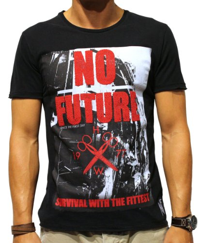 NO FUTURE, Herren T-Shirt, Survival with the fittest, Fashion Tee, black, NF/GAS-12-021, GR XXL