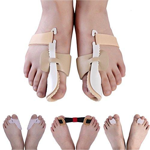Relief-salbe (DuMen-J Warze Schiene Setzen Nachts Weichgel für Warze Relief mit Schuhen, Korrektor und Erleichterung Beschützer - Kit für Die Großen Zehen Gemeinsame)