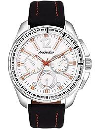 Armbandsur Analog White dial chronograph look Watch-ABS0032MBW