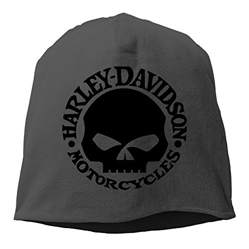 hittings M Harley Davidson Logo Skull Unisex Skull Cap Warm ha One Size Black