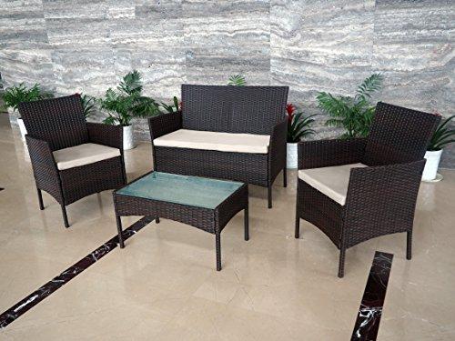 Garden Furniture Set Patio Conservatory Indoor Outdoor 4 Chairs ...