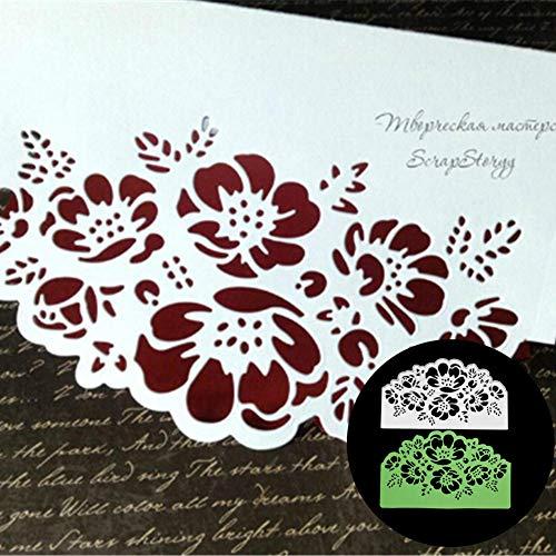 Blumenkante Deko-Metallstanzform DIY Papier Kunst Spray Kohlenstoffstahl Grußkarte Küche Haushalt Wohnzimmer DIY Scrapbooking Prägung Schablone - Silber