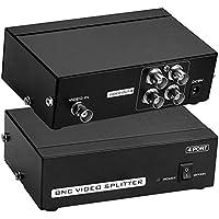 Sienoc 4Puerto BNC Coax Composite Video Splitter Amplificador de distribución CCTV DVR